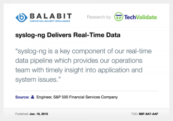 Balabit syslog-ng real-time data