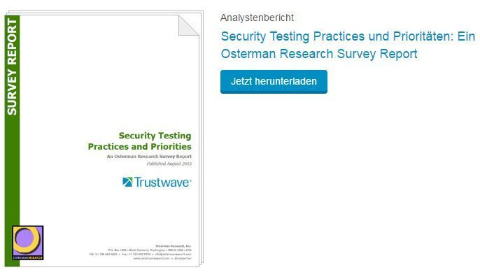 Trustwave Security Testing - Osterman Research Survey Report