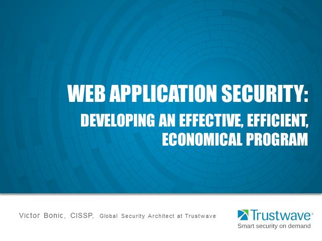 Trustwave Webinar: Web Application Security